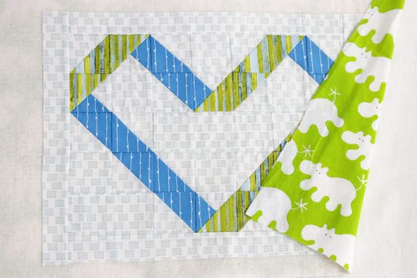 Ribbon Heart Mini Quilt by Bonjour Quilts - perfect for Valentine Day or a nursery decoration