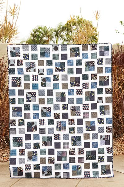 Scrappy Lattice Quilt Pattern by Bonjour Quilts, scrap busting and fat quarter friendly