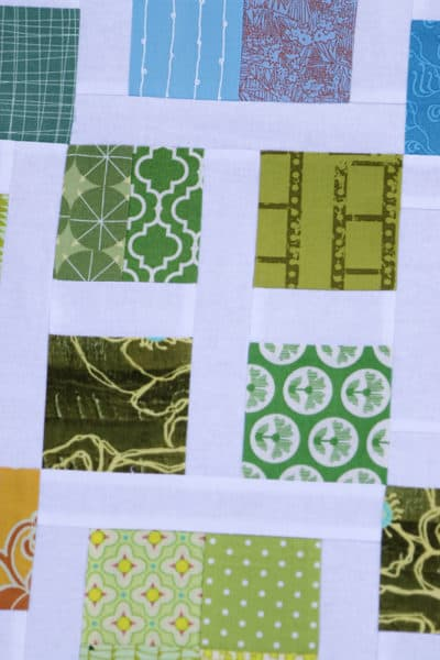 scrappy piecing for a scrappy quilt - scrap quilt pattern