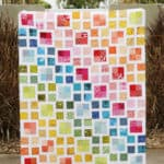 Rainbow Scrappy Lattice Quilt pattern