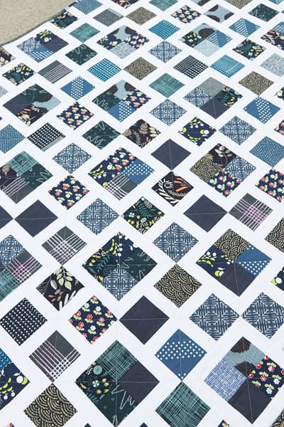 Scrappy Lattice Quilt Pattern by Bonjour Quilts