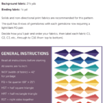 Fabric requirements for Gemology PDF quilt pattern by Bonjour Quilts