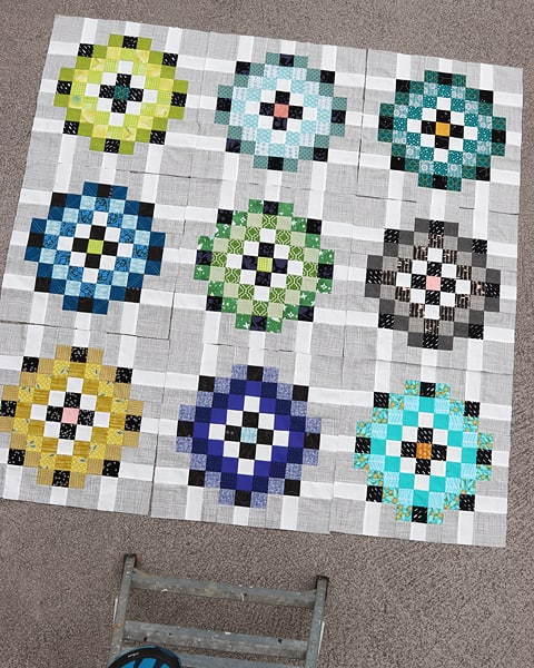 A cool palette scrap quilt pattern