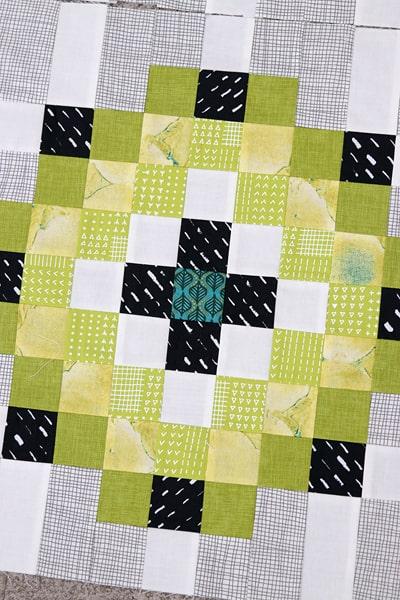 A fun scrap quilt block