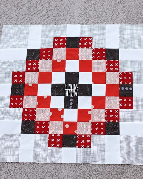 A scrappy quilt block idea