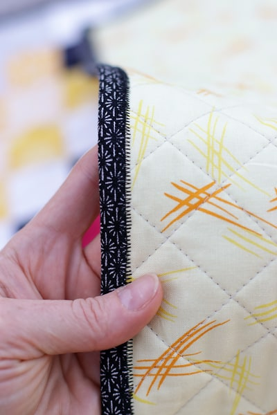 The quilt binding