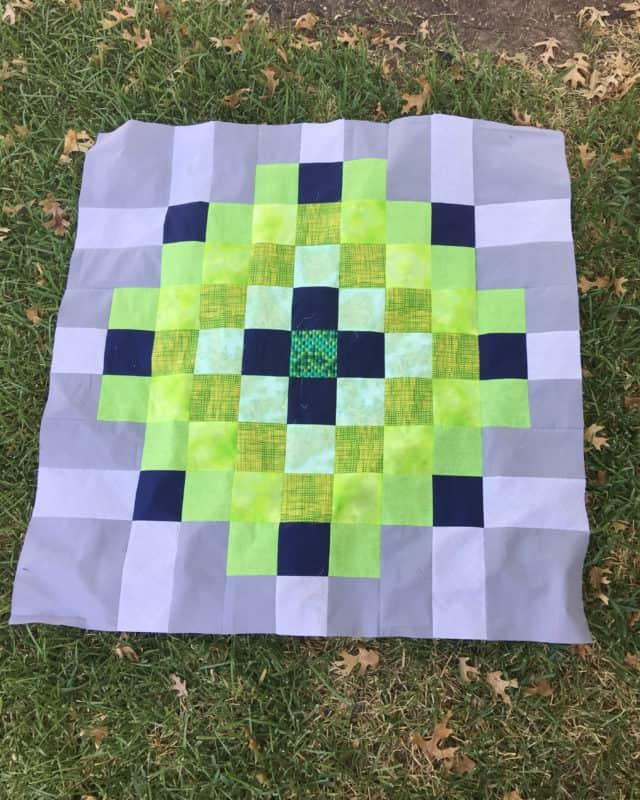 A jumbo scrappy quilt block