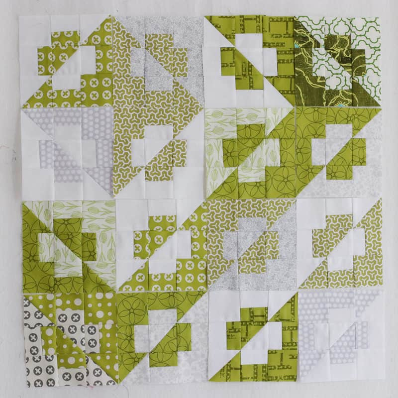 Mini quilt or Christmas cushion layout option - for a scrappy Christmas cushion.
