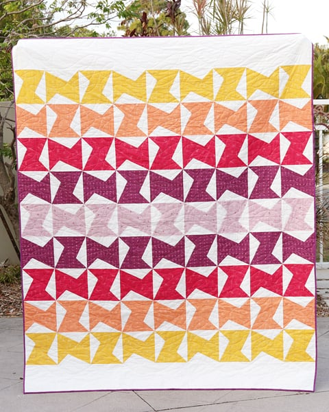 Zed quilt pattern in lap and twin sizes