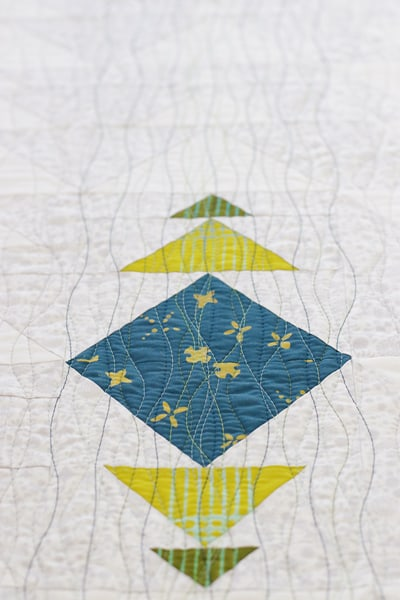 Quilted flying geese mini quilt