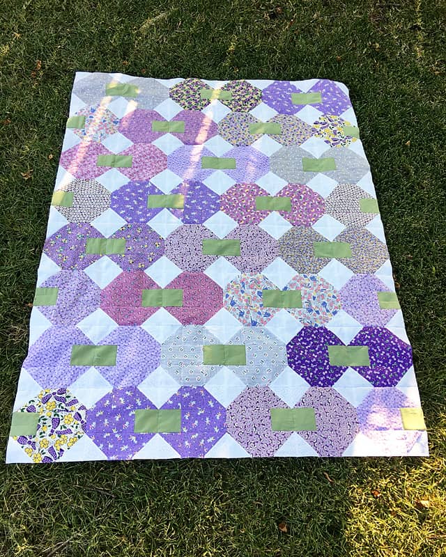 Purple Snowball Party baby quilt