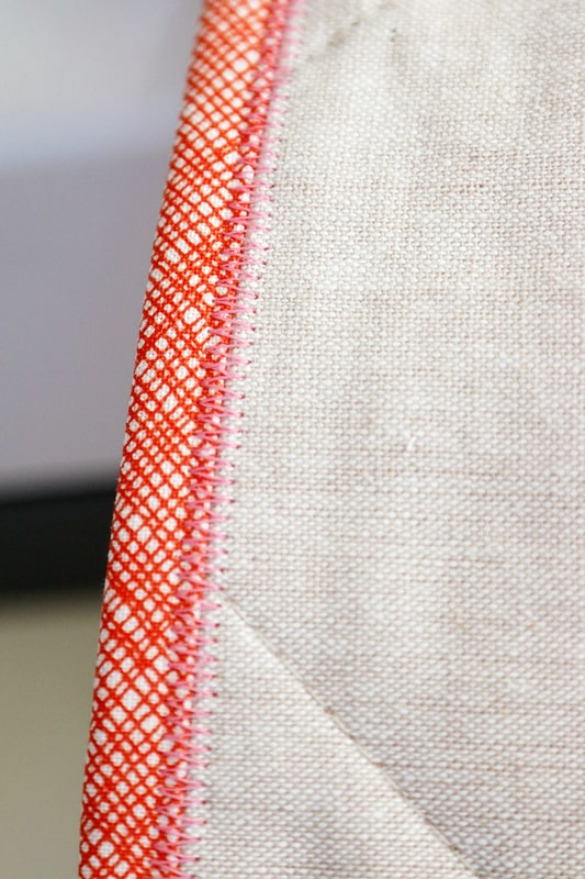 zigzag quilt binding