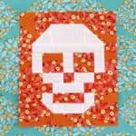 patchwork skull quilt block