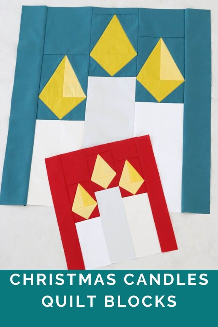 Candle quilt pattern PDF Christmas Quilt Pattern